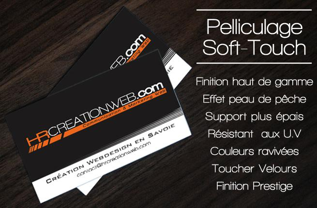 HR Création Web : Pelliculage Soft Touch